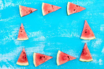 pieces of a ripe red water-melon