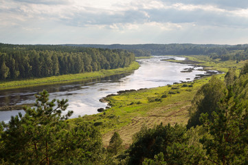 River Daugava in Latvia.