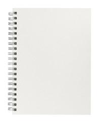 Weißes Blanko Spiralbuch