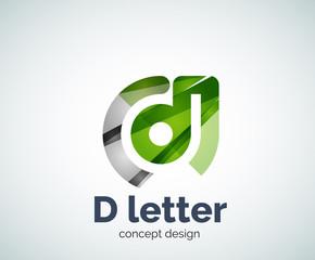 Vector D letter concept logo template