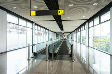 moving walkway in public building