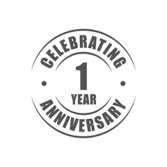 1 year celebrating anniversary logo