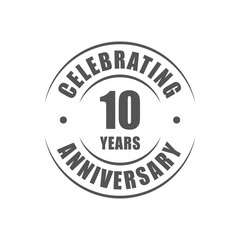 10 years celebrating anniversary logo