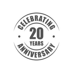 20 years celebrating anniversary logo