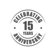 15 years celebrating anniversary logo