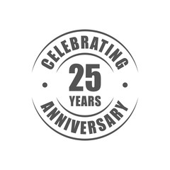 25 years celebrating anniversary logo