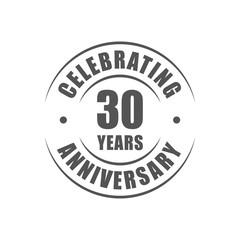 30 years celebrating anniversary logo