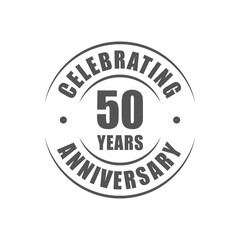 50 years celebrating anniversary logo