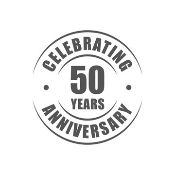 50 years celebrating anniversary logo
