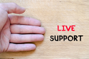 Live support text concept