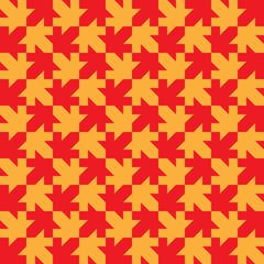 Seamless Maple Leaf Pattern. Regular Tiled Ornament. Organic Mos