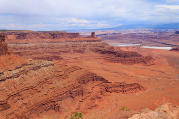 Utah panorama. Colorado river canyon.