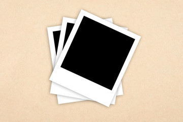 photo frames on paper background