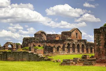 Ruins of the Jesuit Guarani reduction La Santisima Trinidad de
