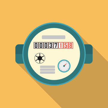 Meter or counter icon. Vector illustration of meter in flat design.