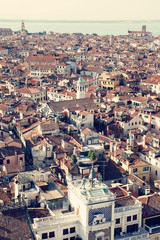 Aerial view of old city of Venice, Italy. European travel destination, summer vacation and architecture concept