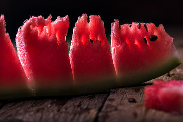 Ripe juicy red watermelon with seeds