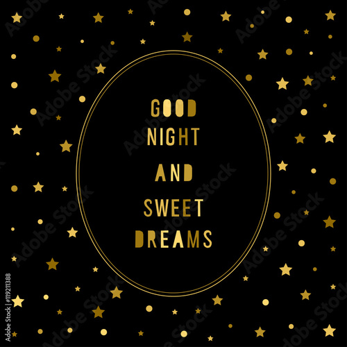 Stars Background Good Night And Sweet Dreams Theme Stock Image