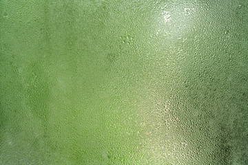 water condensate on window glass