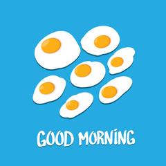 Fried Egg vector . good morning concept.