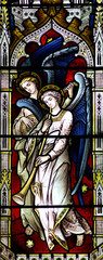 Angels making music (stained glass)