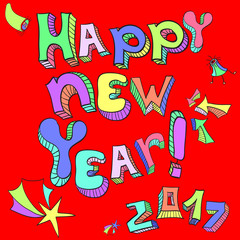 Happy New Year , 2017 , inscription, background , vector