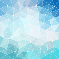 Blue sky colored angular low poly background for use in design.