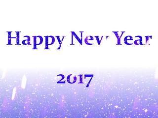 Blue Happy New Year 2017