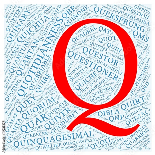 Letter Q With 100 Words Word Cloud Starting With Letter Q
