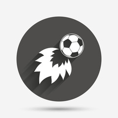 Football fireball sign icon. Soccer Sport symbol