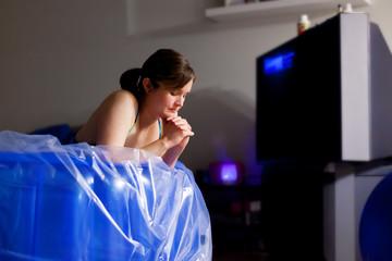 Woman Praying During Home Birth