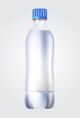 Plastic bottle of drinking water illustration on white