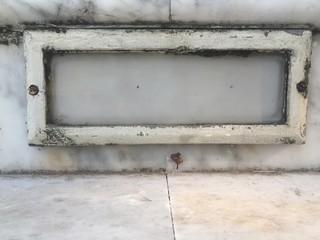 Antique white border frame