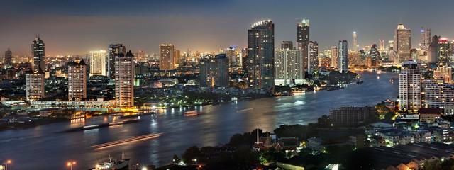 Bangkok city at twilight
