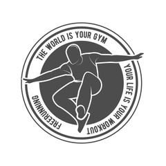 parkour and free running badge