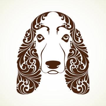 Ornamental decorative dog. Basset Hound