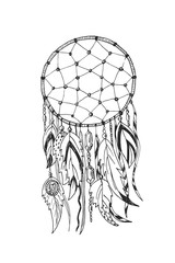 American Indians traditional symbol dreamcatcher
