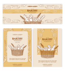 Bakery shop bakery products baking banners bakery template