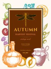 Autumn harvest festival vintage poster