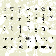 The mystical signs and symbols.