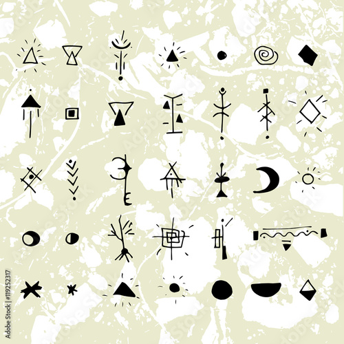 The Mystical Signs And Symbols Stock Image And Royalty Free Vector