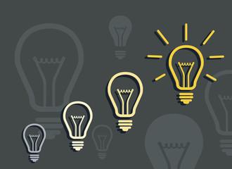 Flat design vector illustration of generation of idea. Idea concept.