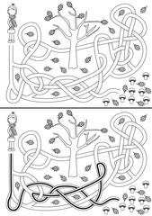 Mushrooms maze