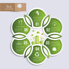 Circle shape form to nature infographic. Can uesd for presentation, data diagram and infographic business