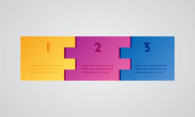 3 options step universal infographic presentations