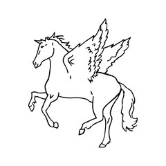 Pegasus on a white background