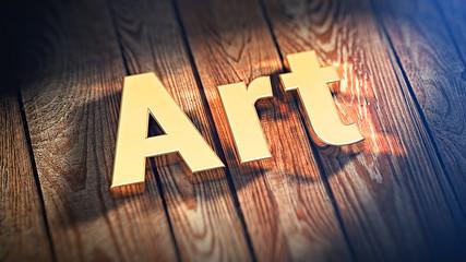 Word Art on wood planks