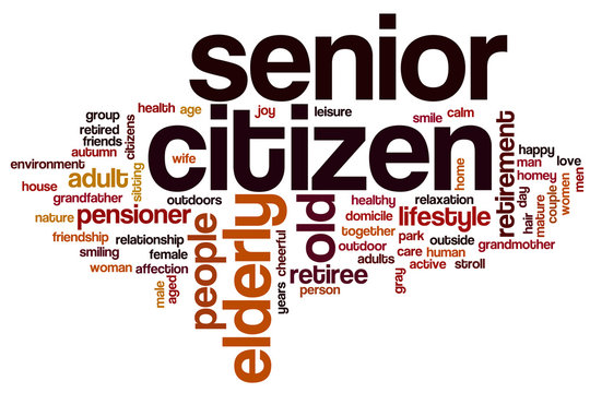 Senior citizen word cloud