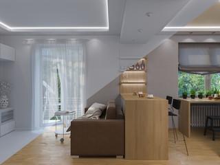 3d rendering living room interior design.