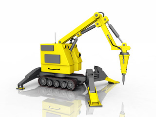 Remote construction robot